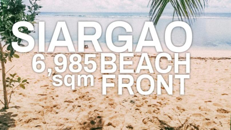 6,985 White Sand Beach Front For Sale in Pacifico Siargao Island