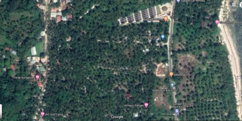 875 sqm Roadside or along the road property For Sale in Catangnan Gen. Luna near Cloud 9 siargao